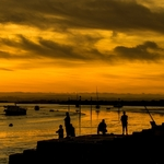 Pescaria num fim de tarde