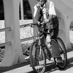 O ciclista fumador!