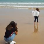 A jovem fotografa.