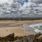 Afastamento social em domingo de praia