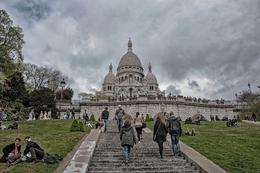 Subindo ao Sacré-Coeur - Paris