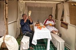 Feira romana - o padeiro tocador de corno