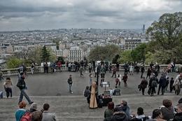 Harpista do Sacré-Coeur - Paris