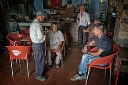 No café em Pitões