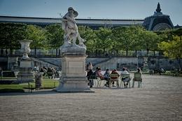 Nos jardins do Louvre