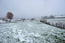 Aldeia com neve