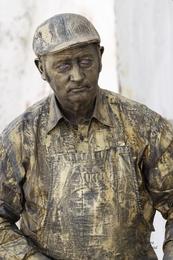 Estatuas vivas - Vendedor de Mercado
