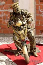 Estatua viva - Motard